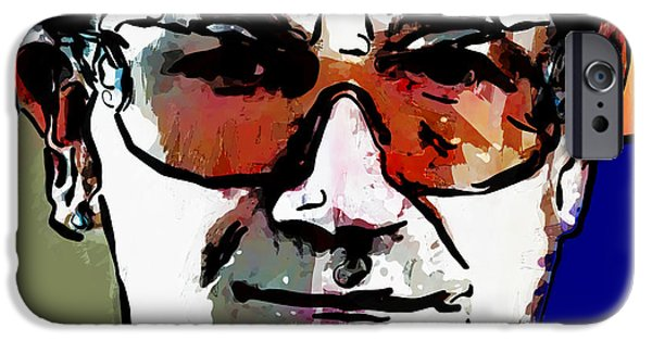 U2 Paintings iPhone Cases - Bono U2 iPhone Case by Vya Artist