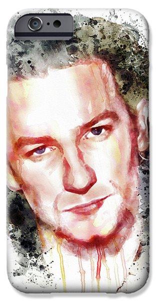 U2 iPhone Cases - Bono Vox iPhone Case by Marian Voicu