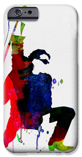 Classical Music iPhone Cases - Bono Watercolor iPhone Case by Naxart Studio