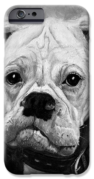 Boxer Paintings iPhone Cases - Boo the Boxer iPhone Case by Enzie Shahmiri