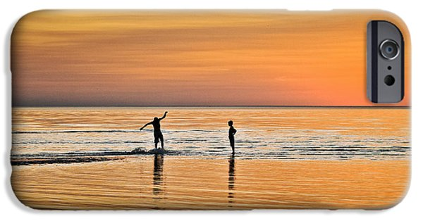 Cape Cod iPhone Cases - Boogie Boarding iPhone Case by John Greim