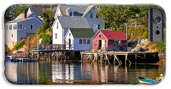 Chatham iPhone Cases - Booth bay  Maine iPhone Case by Emmanuel Panagiotakis