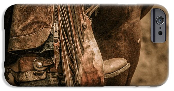 Horse iPhone Cases - Boots and Spurs iPhone Case by Lynn Sprowl