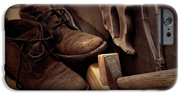Work Tool iPhone Cases - Boots iPhone Case by Svetlana Nilova