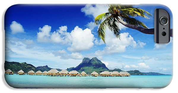 Overhang iPhone Cases - Bora Bora, Lagoon Resort iPhone Case by Himani - Printscapes