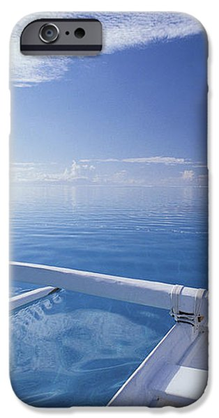 Bora Bora, Outrigger iPhone Case by Joe Carini - Printscapes