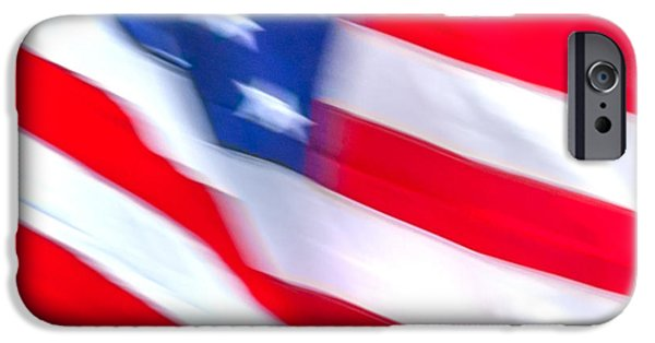 Patriotic Photographs iPhone Cases - Born In The USA iPhone Case by Az Jackson