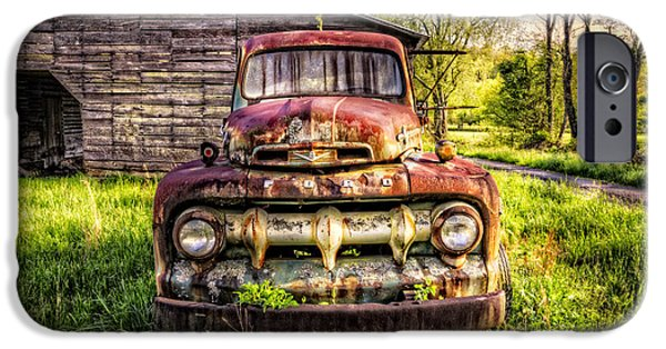 Old Barns iPhone Cases - Born in the USA iPhone Case by Debra and Dave Vanderlaan