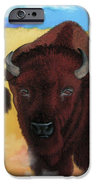 Gold Pastels iPhone Cases - Born of Thunder iPhone Case by Tracy L Teeter