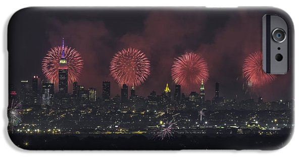 4th Of July Digital iPhone Cases - Born on the 4th of July iPhone Case by Eduard Moldoveanu
