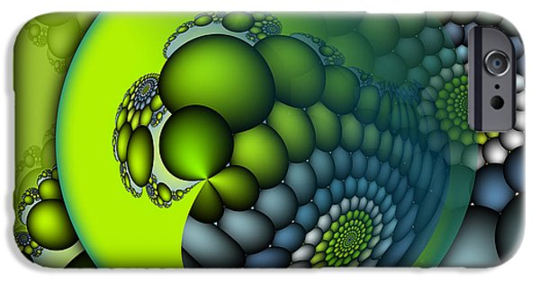 Fractals Fractal Digital Art iPhone Cases - Born to Be Green iPhone Case by Jutta Maria Pusl