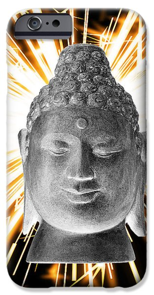 Buddhist Sculptures iPhone Cases - Borobudur Enlightenment  iPhone Case by Terrell Kaucher