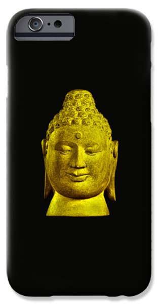 Asian Sculptures iPhone Cases - Borobudur gold  iPhone Case by Terrell Kaucher