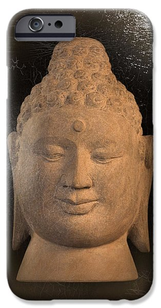 Buddhist Sculptures iPhone Cases - Borobudur oil effect  iPhone Case by Terrell Kaucher