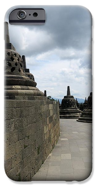 Buddhist iPhone Cases - Borobudur Temple 3 iPhone Case by Cindy Kellogg