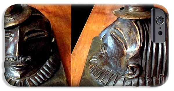 History Sculptures iPhone Cases - Bosco de Gama iPhone Case by Charlie Spear