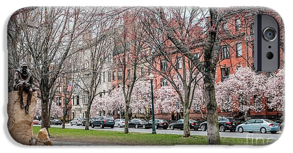 Boston iPhone Cases - Boston Back Bay in Spring iPhone Case by Edward Fielding