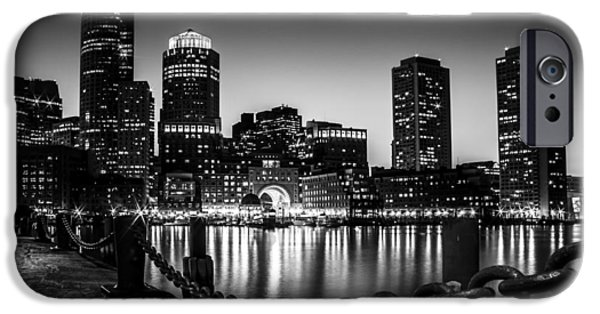 Boston Ma iPhone Cases - Boston by Night iPhone Case by Kevin Walsh