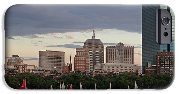 City. Boston iPhone Cases - Boston Charles River Sailboats iPhone Case by Juergen Roth