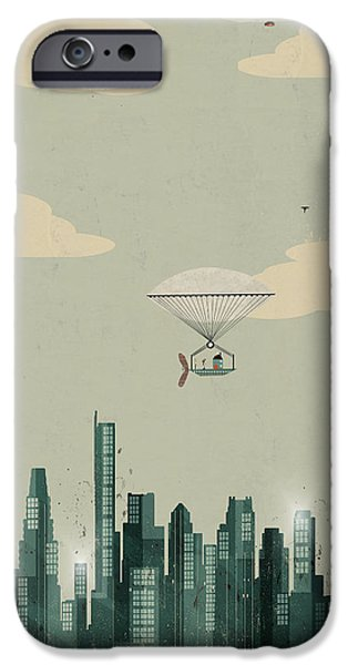 City. Boston iPhone Cases - Boston City Skyline iPhone Case by Bri Buckley