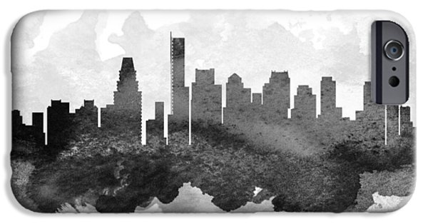 Boston Skyline iPhone Cases - Boston Cityscape 11 iPhone Case by Aged Pixel