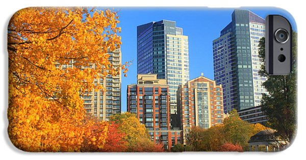 Recently Sold -  - Boston iPhone Cases - Boston Common in Autumn iPhone Case by John Burk