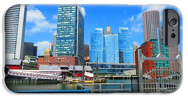 Buildings Mixed Media iPhone Cases - BOSTON Cultural Connector Infrastructure Urban Landscape skyline NavinJoshi FineArtAmerica Pixels iPhone Case by Navin Joshi