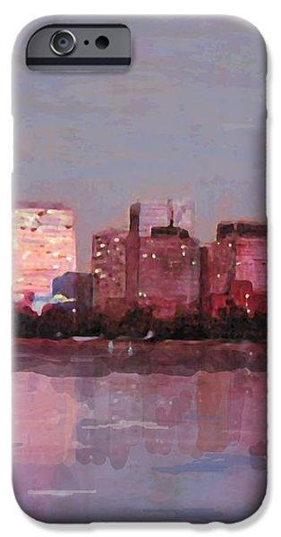 Boston Evening iPhone Case by Lyn Vic