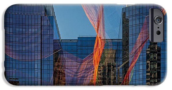 Concept Art iPhone Cases - Boston Facade Reflections iPhone Case by Susan Candelario