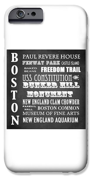 Fenway Park iPhone Cases - Boston Famous Landmarks iPhone Case by Patricia Lintner