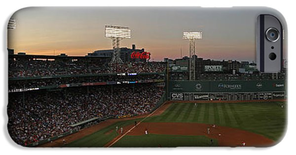 Fenway Park iPhone Cases - Boston Fenway Park Sunset iPhone Case by Juergen Roth