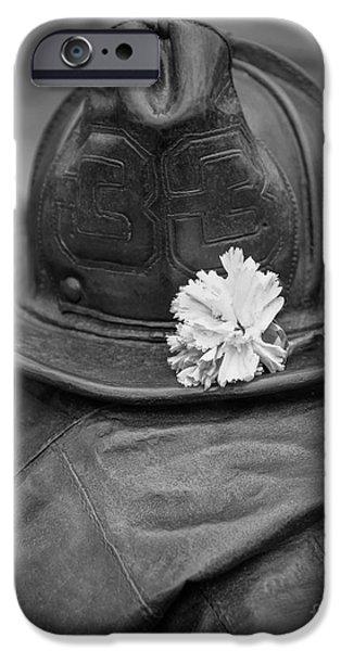 Back Bay iPhone Cases - Boston Fireman Memorial Back Bay iPhone Case by Edward Fielding
