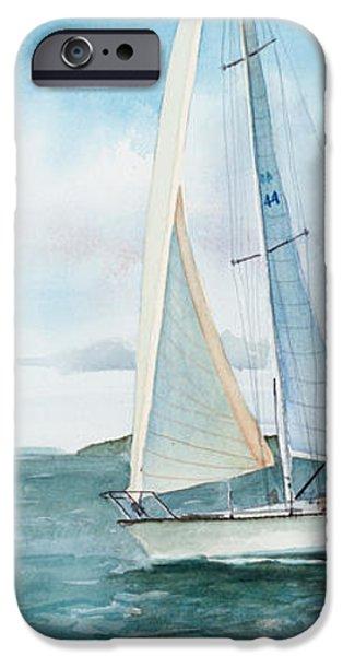 Boston Harbor Islands iPhone Case by Laura Lee Zanghetti