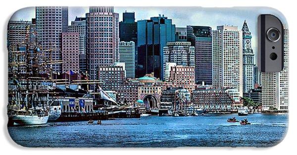 Boston iPhone Cases - Boston Harbor iPhone Case by Larry  Richardson