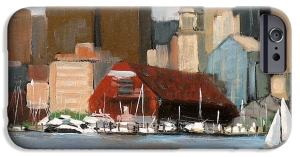 Recently Sold -  - City. Boston iPhone Cases - Boston Harbor iPhone Case by Laura Lee Zanghetti