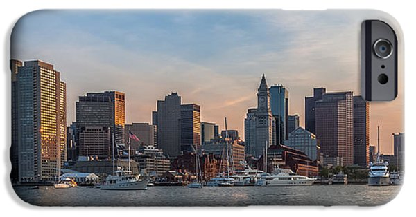 Boston Ma iPhone Cases - Boston Harbor Sunset iPhone Case by Brian MacLean