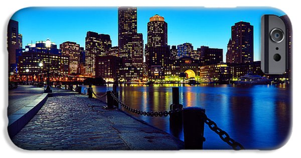Financial District iPhone Cases - Boston Harbor Walk iPhone Case by Rick Berk
