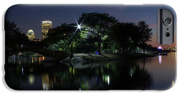 Boston Ma iPhone Cases - Boston at Night iPhone Case by Nick Cosky