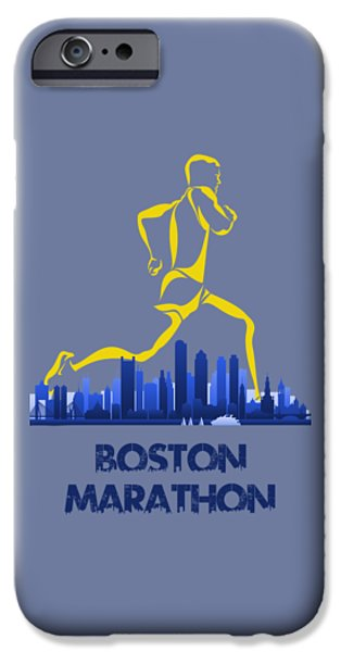 City. Boston iPhone Cases - Boston Marathon5 iPhone Case by Joe Hamilton