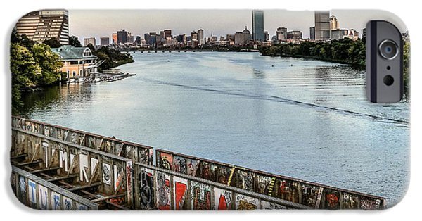 Charles River iPhone Cases - Boston iPhone Case by Marie Schleich