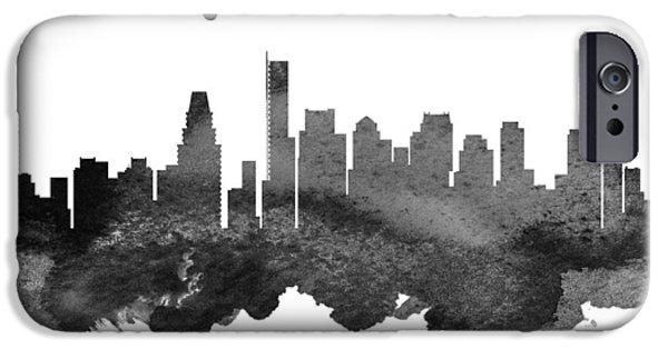 City. Boston iPhone Cases - Boston Massachusetts Skyline 18 iPhone Case by Aged Pixel