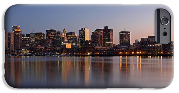 Custom House Tower iPhone Cases - Boston Night iPhone Case by Juergen Roth