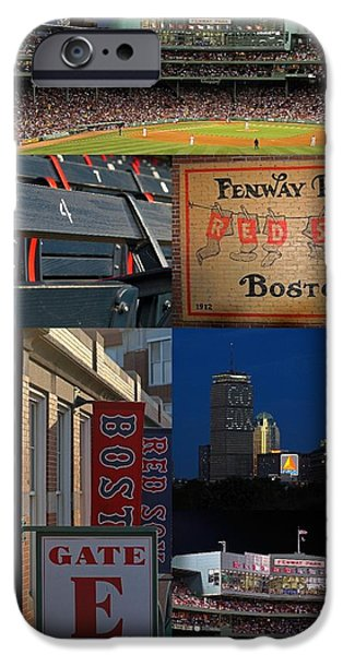 Boston Red Sox iPhone Cases - Boston Red Sox and Fenway Park Collage  iPhone Case by Juergen Roth
