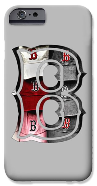 Boston Red Sox iPhone Cases - Boston Red Sox B Logo iPhone Case by Joann Vitali