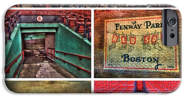 Recently Sold -  - Fenway Park iPhone Cases - Boston Red Sox Collage - Fenway Park iPhone Case by Joann Vitali