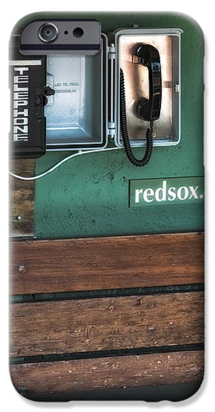 Boston Red Sox iPhone Cases - Boston Red Sox Dugout Telephone iPhone Case by Susan Candelario