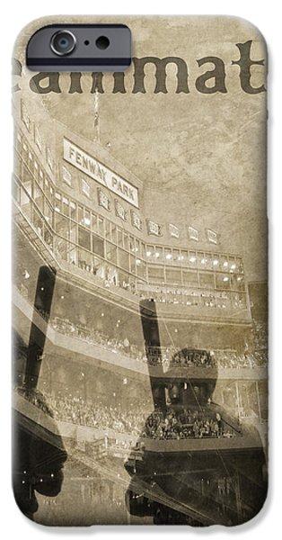 Fenway Park iPhone Cases - Vintage Boston Red Sox Fenway Park Teammates Statue iPhone Case by Joann Vitali