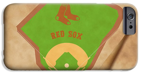 Red Sox iPhone Cases - Boston Red Sox Field iPhone Case by Carl Scallop