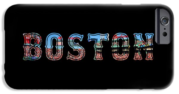 Red Sox iPhone Cases - Boston Red Sox Poster iPhone Case by Joann Vitali