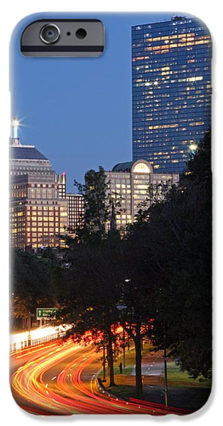 City. Boston iPhone Cases - Boston Rush Hour on Storrow Drive iPhone Case by Juergen Roth